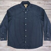 Duluth Trading Wrinklefighter Wrinkle Fighter Nightfall Navy Plaid - XL PERFECT