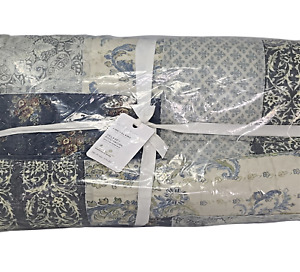New Pottery Barn Delaney Reversible Patchwork Cotton Quilt KING + 2 KING Shams