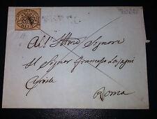 STATO PONTIFICIO lettera con 3 baj da Viterbo a Roma firmata Diena 4 pt