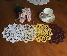 Unbranded Yellow Crocheted Doilies