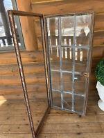 Antique Vintage Industrial Steel Crittall Casement Lite Leaded Glass Window
