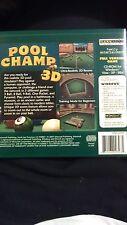 New GameSoft Pool Champ 3D PC Video Game (2007) Windows VISTA/XP/98SE  DN5-4279