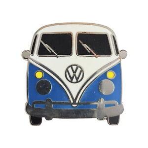 Ansteckbutton Volkswagen VW T1 Bus in blau Anstecker Volkswagen VW Bulli T1