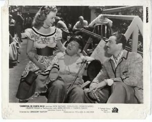 VERA-ELLEN Original Vintage Photo On Set Director Gregory Ratoff, Cesar Romero