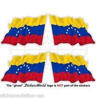 """VENEZUELA Former Civil Waving Flag (7 star) Vinyl Decals Stickers 2"""" (50mm) x4"""