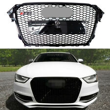 Rs4 Style Sport Gloss Black Mesh Front Grille For 2013-2016 Audi A4 S4 B8.5 (Fits: Audi)