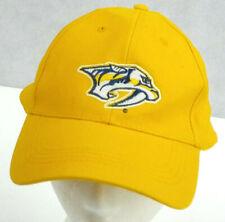 Nashville Preditors Strapback Hat Yellow Baseball Trucker cap Hockey Bridgestone
