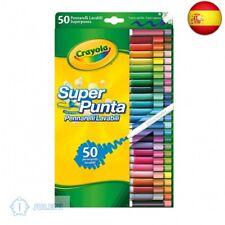 Crayola 7555 - 50 Rotuladores Súper Punta Lavables