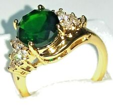 14k Solid Yellow Gold Natural 2.38ct Emerald Ring Size 7