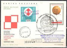 Poland 1980 - Balloon post card - balloon Katowice