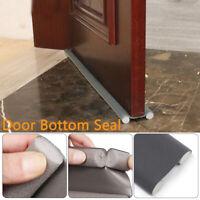 Self Adhesive Soundproof Foam Sliver Navy Door Bottom Weatherstrip Seal Strip