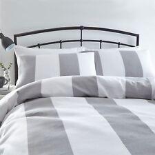 Silentnight Waffle Stripe Duvet Set Polyester-cotton Grey Single