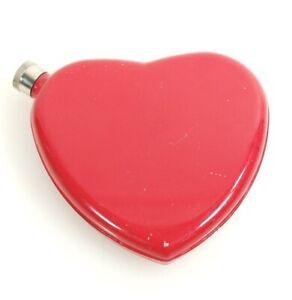 Portable Stainless Steel Red Heart Shaped Wine Whisky Vodka Durable Bottle
