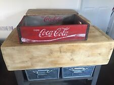 COCA COLA  RETRO/VINTAGE STYLE WOOD CRATES,  DECORATIVE / STORAGE W48cm