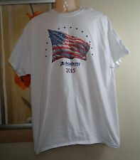 GILDAN Academy Sports+Outdoors white Adults' Americana Etched Flag T-shirt, XL
