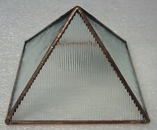 Clear cord textured Stained Glass and Copper Metaphysical Power Pyramid