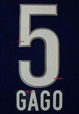 BOCA JUNIORS 2011-2014 HOME  GAGO SET NAME AND NUMBER