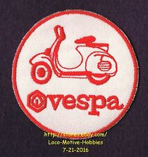 LMH Patch Badge VESPA SCOOTER Motorcycle Piaggio Wasp Italian Cycle Bike Red 2.5