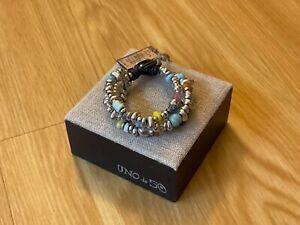 "NWT Uno de 50 Multi Color Beads/Crystals/Skulls Bracelet ""Loot"""