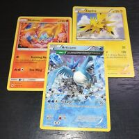 POKEMON TCG: ARTICUNO + ZAPDOS + MOLTRES - 3-CARD LEGENDARY BIRD SET - NM