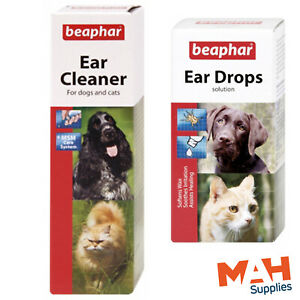 Beaphar Ear Drops or Ear Cleaner for Dogs & Cats Kill Mites & Stop Wax