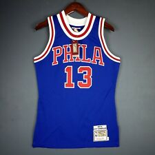 39f1fed5b 100% Authentic Wilt Chamberlain Mitchell Ness 66 67 Sixers Jersey Size 36 S  Mens