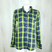 SO Relaxed Perfect Shirt Size S Plaid Long Sleeve Shirt