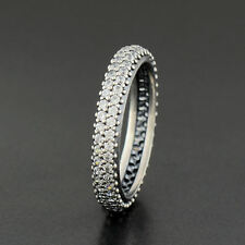 PANDORA New Genuine Silver Sparkling Curve Ring Size 54 190909CZ