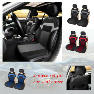 2pc Car 3 colors Chair Cover Double Front Seat Fittings Sponge Protector Pad kit