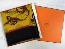 "MIB Authentic HERMES ""TENDRESSE FELINE"" Cashmere Silk in box Shawl 35"" 90cm"