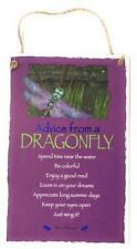 """Advice from a DragonFly Insect Novelty Inspirational 5.5""""x8.5"""" Wood Plaque Sign"""