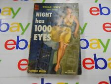 Night Has 1000 eyes by William Irish (George Hopley) (1964,USA) Dell Books # 679