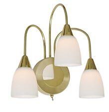 LED Wandlampe Messing / Glas Opalweiß Schalter Wofi-leuchten 4453.03.32.0000