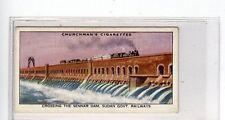 (Jc7197-100)  CHURCHMANS,EMPIRE RAILWAYS,CROSSING THE SENNAR DAM,SUDAN,1931,#11