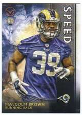 2015 Topps Valor Football Speed Parallel RC #104 Malcolm Brown St. Louis Rams