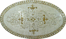 Oval Border Artistic Home Marble Mosaic Geo1101