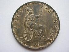 1891 Queen Victoria Halfpenny, UNC.