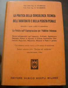 (PRL) ANTIQUE BOOK 1957 LIBRO ANTICO CONSULENZA TECN. ARBITRATO PERIZIA PENALE