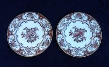 Antique 19C Wedgwood Salad Plates Camelia 2094 Pattern-Set Of 2