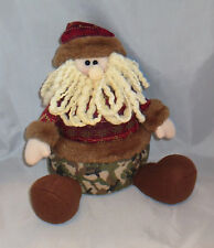 Santa Claus Camo Beard Hat Home Decor New Christmas Shelf Sitter Camouflage