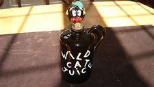 "Vintage Jug ""Wild Cat Juice"" With Cork Stopper (Japan)"