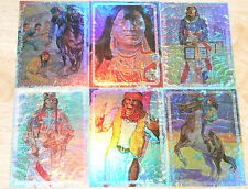 Native Americans 6 card Prismatic insert set by Bon Air in 1995