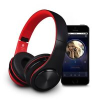 Foldable Bluetooth Headphones Wireless Headset Stereo Earphone Super Bass w/ Mic