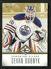 2012-13 Limited GOLD card # 100 DEVAN DEBNYK Serial # 4 of 25