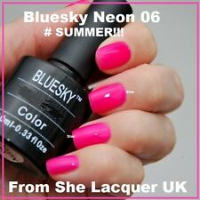 BLUESKY NEON 06 CUPID BRIGHT FLOURO PINK UV LED GEL NAIL POLISH FREE P&P