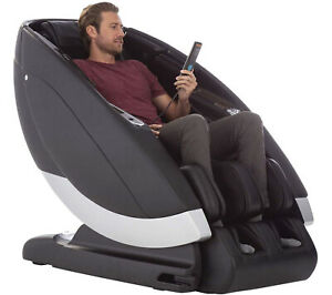 Black Human Touch Super Novo Zero Gravity 4D S & L Track Massage Chair Recliner