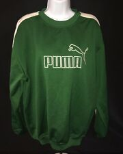 PUMA Green Pullover Crewneck Sweater Large Vintage