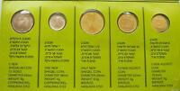 Israel New Sheqel Hanukka Gelt 5 Coins Official Mint Set 1992 - Limited Edition