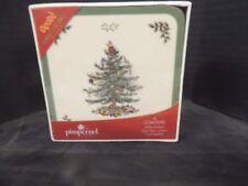 NEW Spode CHRISTMAS TREE Set Of 6 Square Corkback Coasters Pimpernel Sealed Box