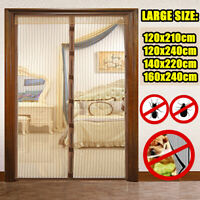 Large Magnetic Mosquito Door Screen Mesh Nets Anti Bugs Insect Fly Curtain Home